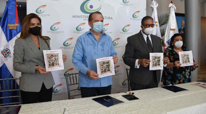 Cultura, alcaldía del Distrito Nacional e INPOSDOM ponen a circular sellos y textos sobre fundación de Santo Domingo
