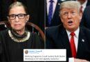 """Trump reacciona a la muerte de jueza de EEUU: """"Tuvo una vida increíble"""""""